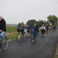 Rowerzyści podczas rajdu